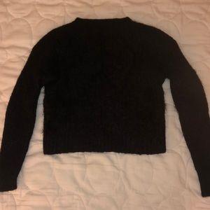 UO black fuzzy sweater